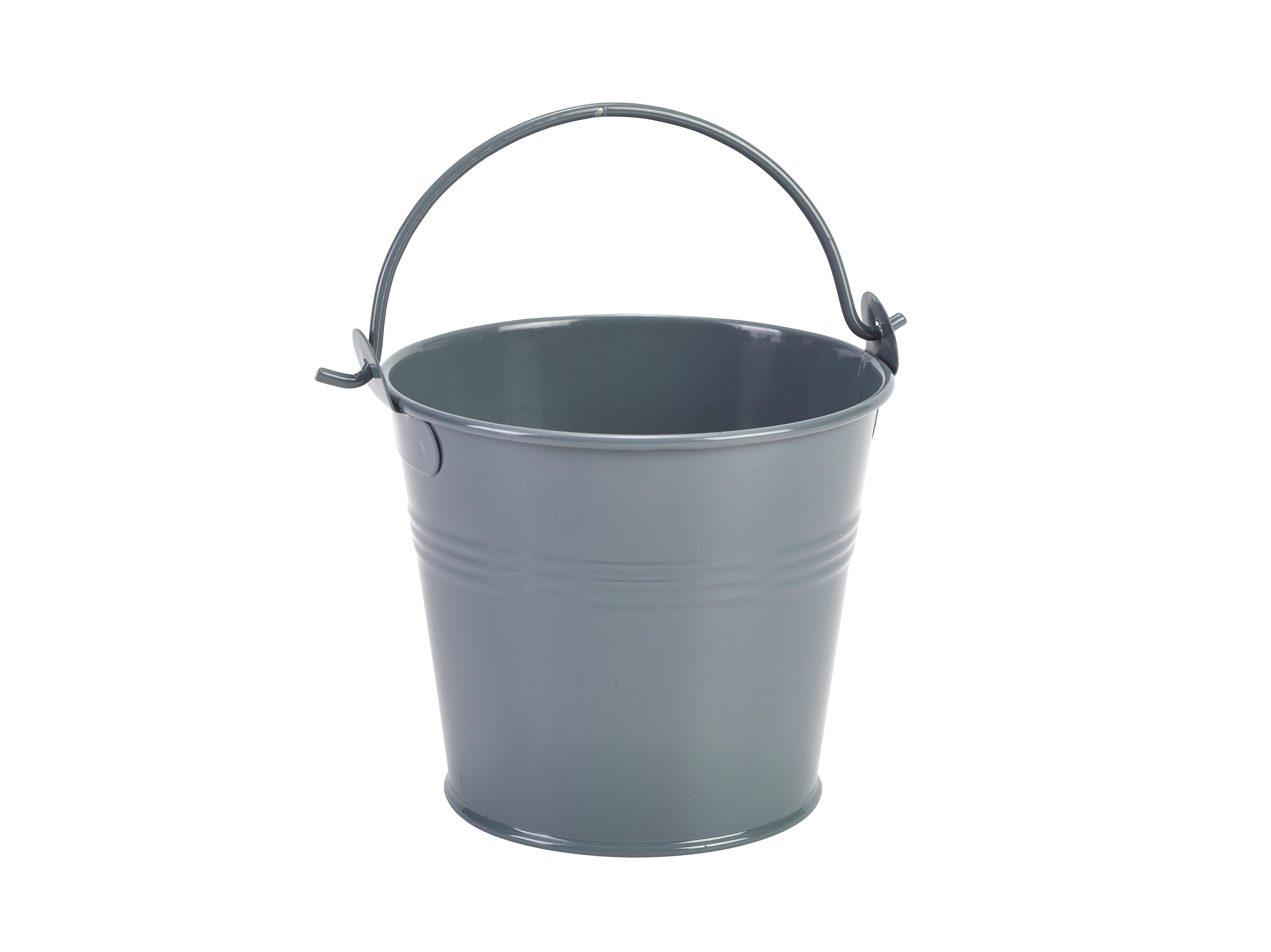 Galvanised Steel Serving Bucket**6 pack** 10cm Dia Grey