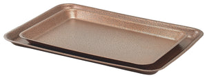 Galvanised Steel Tray 37x26.5x2cm Hammered Copper