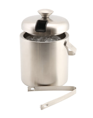 Genware Insulated St/St Ice Bucket&Tong 1.2L
