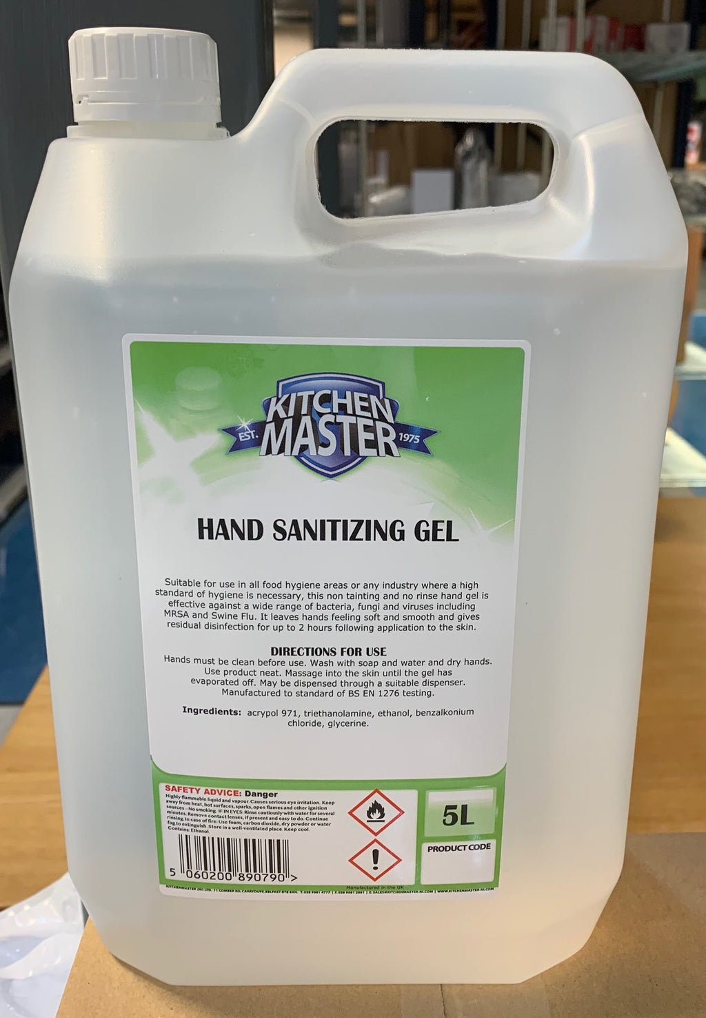 5 LT Hand sanitizing gel