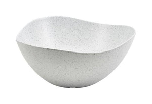 White Granite Melamine Triangular Buffet Bowl 28cm