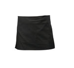 Black Short Apron W/ Split Pocket  70cm x 37cm