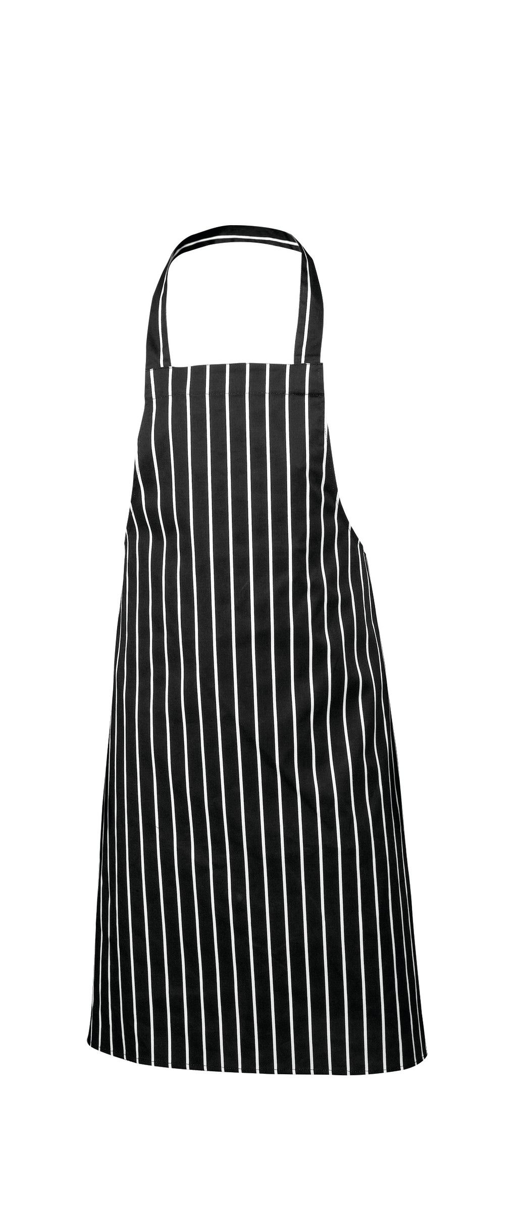 Black Butchers Stripe Bib Apron 70x100cm