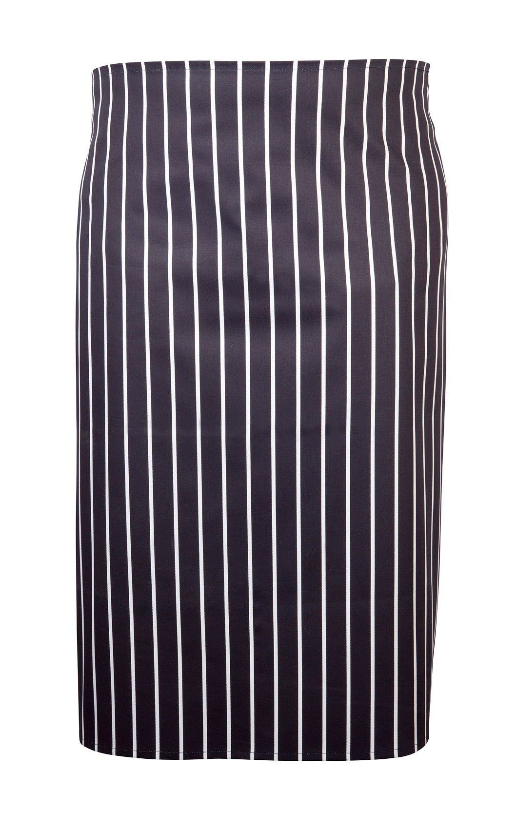 Navy Butchers Stripe Waist Apron 71cm X 76cm