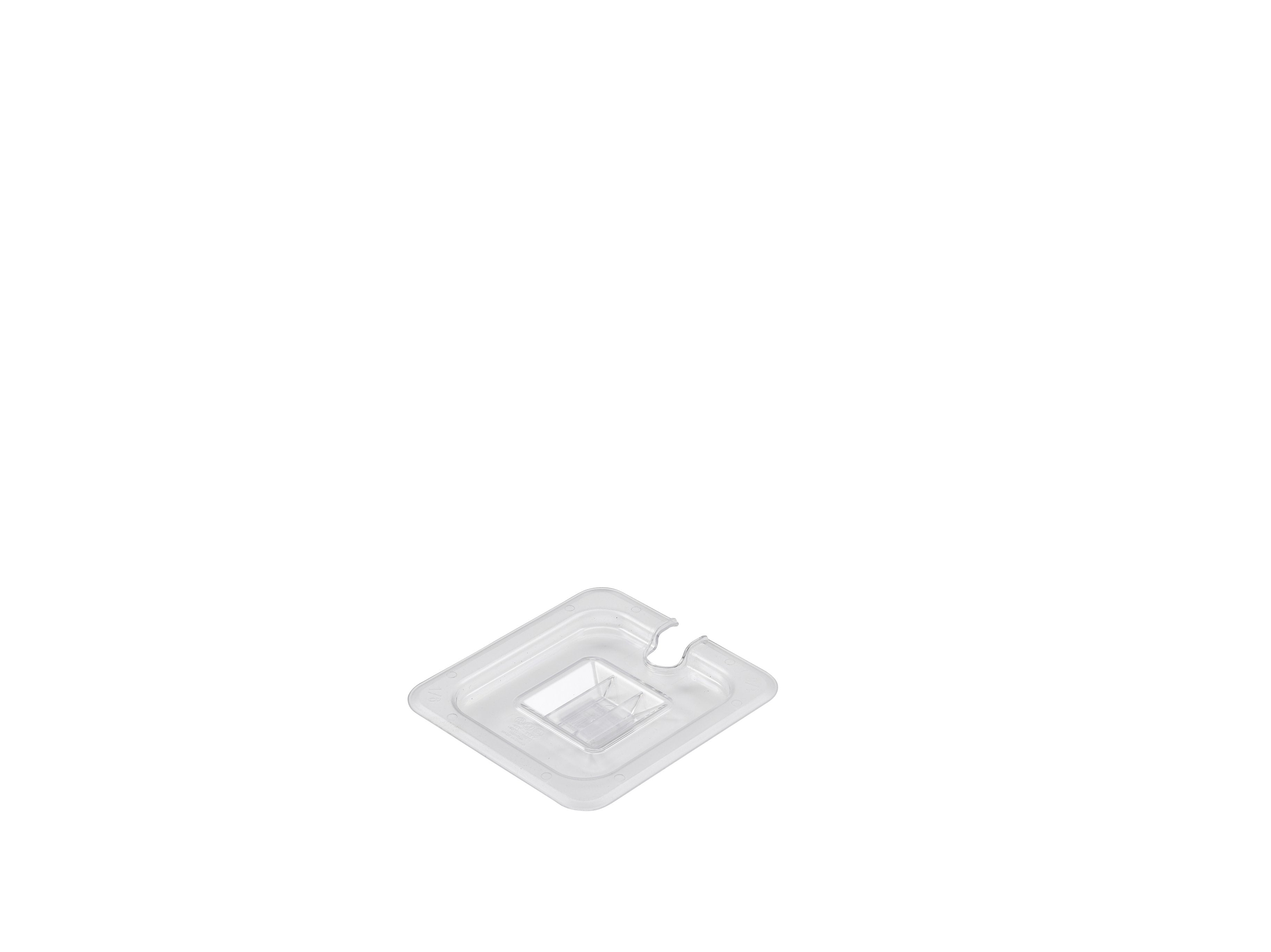 1/6 Polycarbonate GN Notched Lid Clear