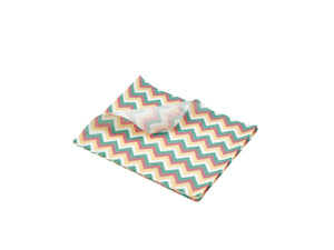 Greaseproof Paper Multicoloured Chevron Print 25 x 20cm