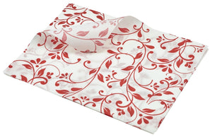 Greaseproof Paper Red Floral Print 25 x 20cm