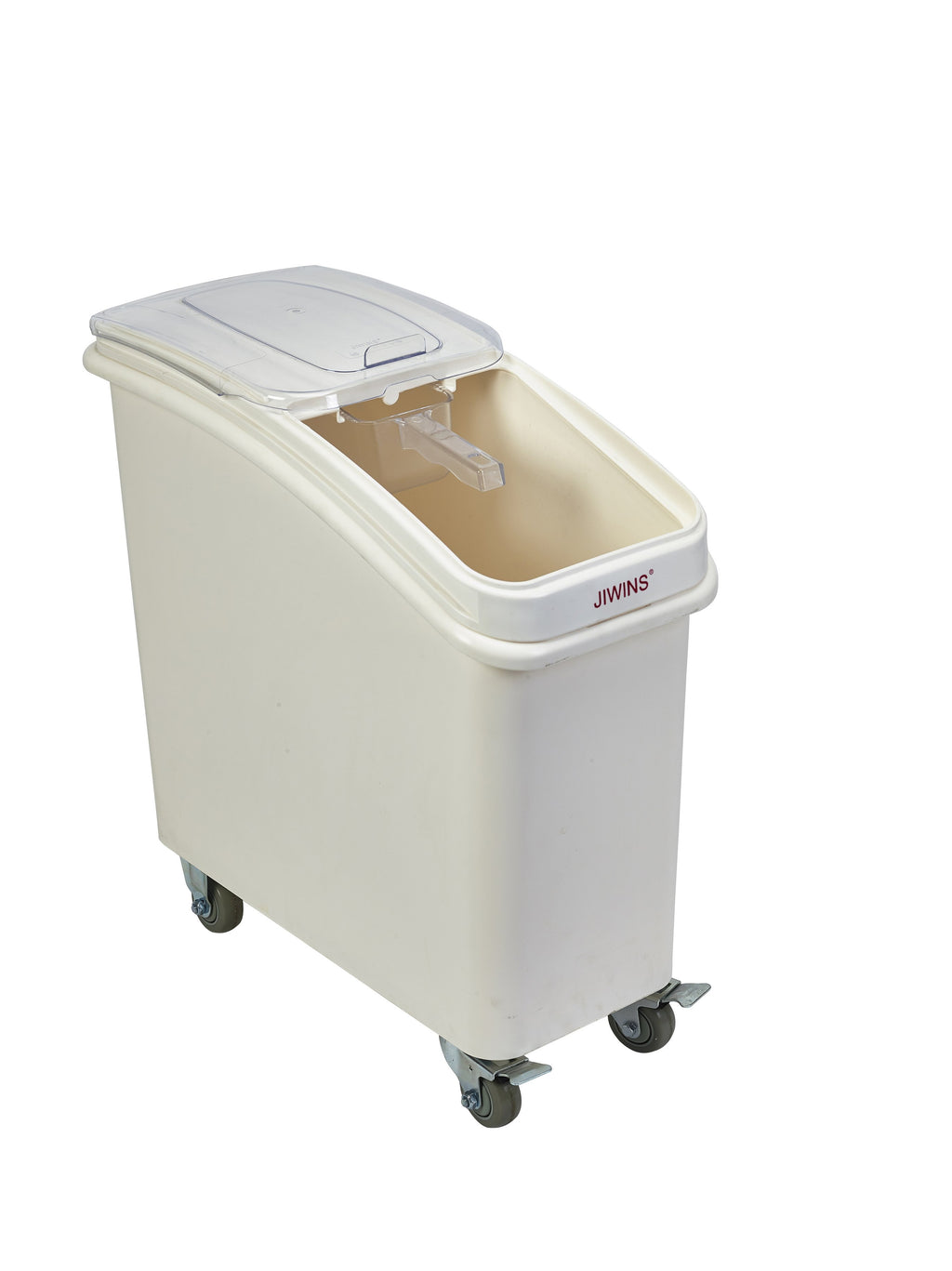 Polypropylene Mobile Ingredient Bin with Scoop 81 Litre
