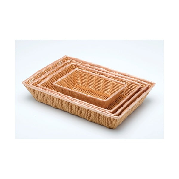 "Rectangular Polywicker Basket 10""X7""X2.5"""
