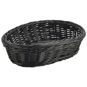 Black Oval Polywicker Basket 22.5 x 15.5 x 6.5cm