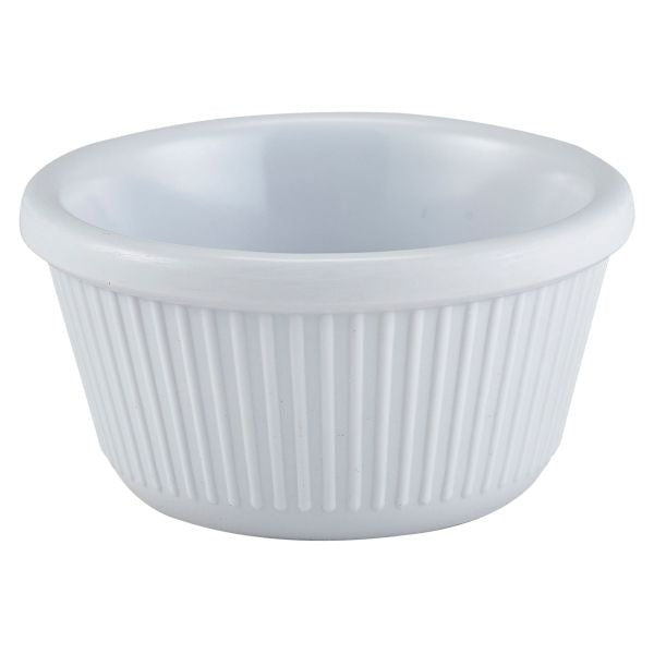 Ramekin 3oz Fluted White