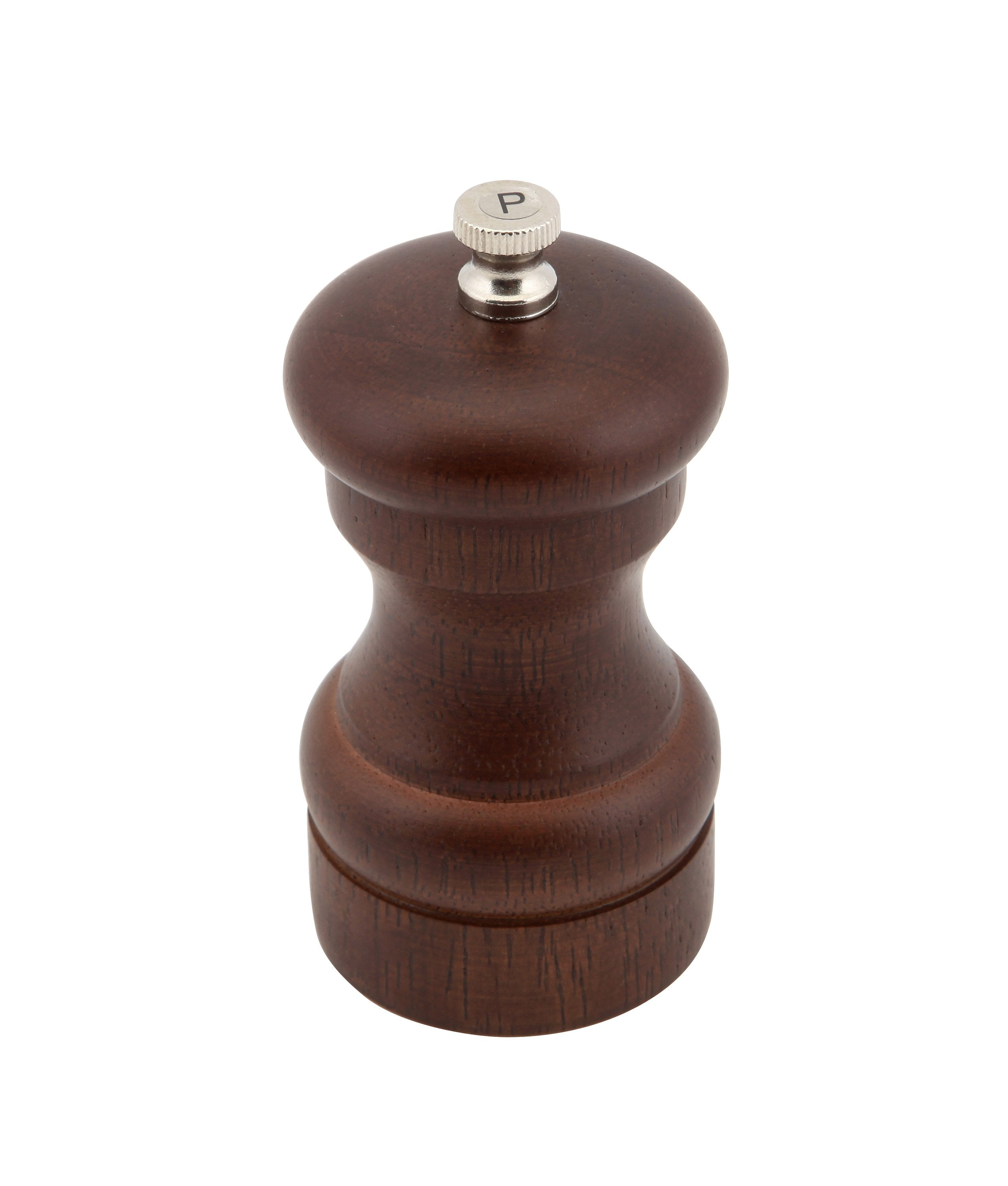 Genware Dark Wood Salt Or Pepper Grinder 10cm