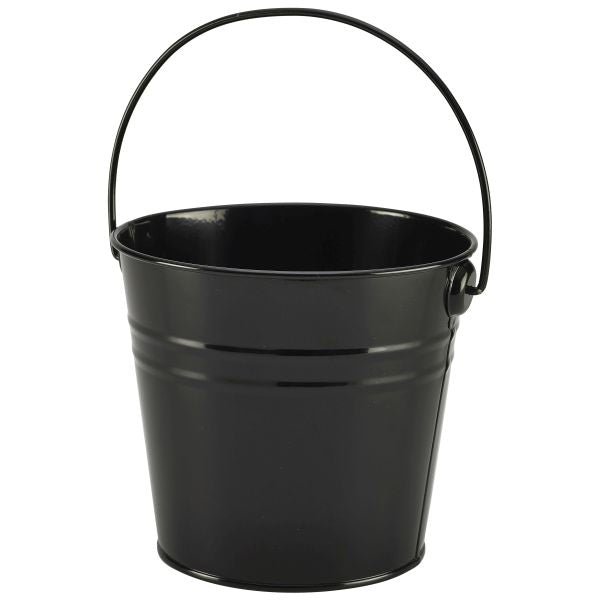 Stainless Steel Serving Bucket 12 pack 16cm Dia Black