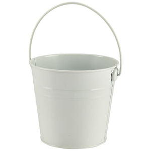 Stainless Steel Serving Bucket 12 pack 16cm Dia White