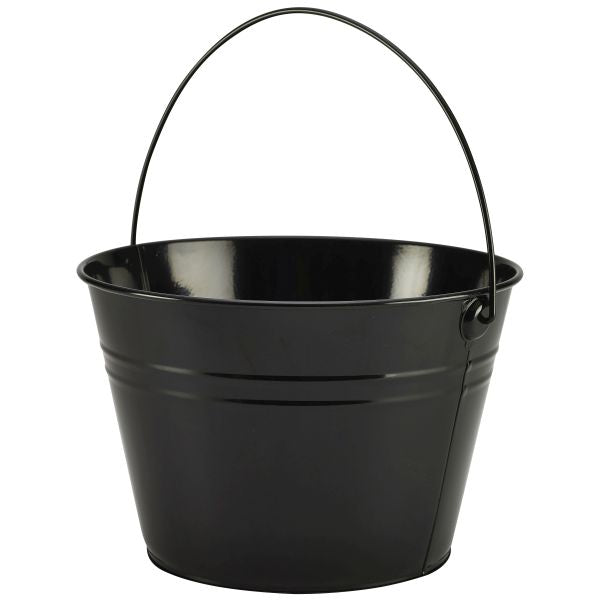 Stainless Steel Serving Bucket 6 pack 25cm Dia Black