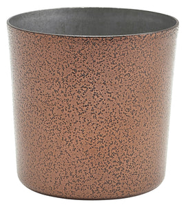 Stainless Steel Serving Cup 8.5 x 8.5cm Hammered Copper