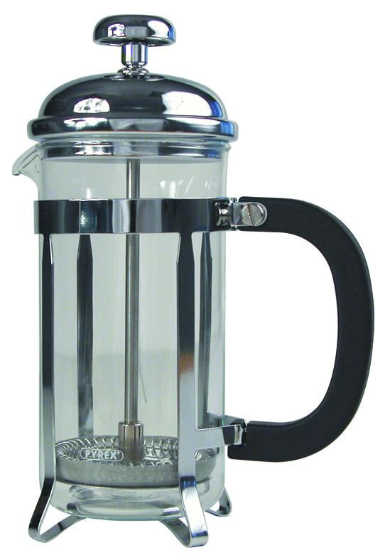 8 Cup Cafetiere Chrome Pyrex 32oz 1000ml