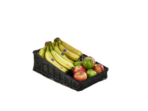 Wicker Display Basket Black 40X25X12cm