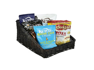 Wicker Display Basket Black 46X36X20cm