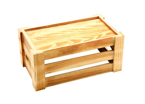 Wooden Crate Rustic Finish 27 x 16 x 12cm