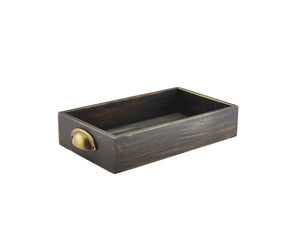 Black Wash Acacia Wood Display Drawers GN 1/3