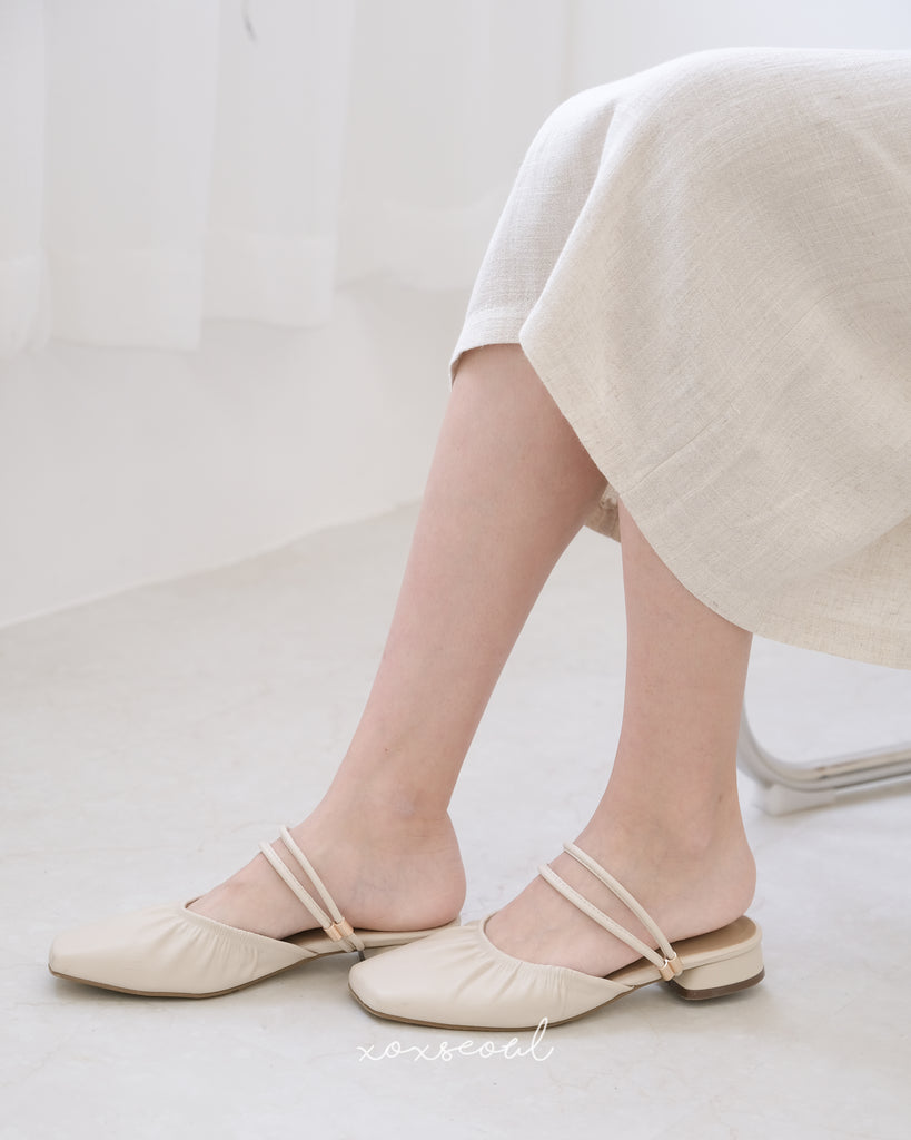 Trick To Happy Backless Loafers (2 Colors)