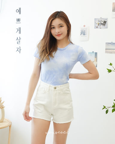 Sunny And Cloudy Sky Crop Tee (2 Colors)
