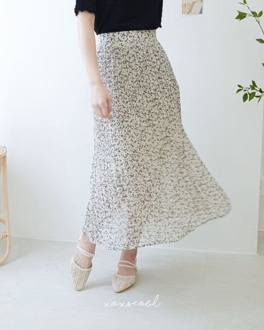 Like Water Floral Skirt (2 Colors)