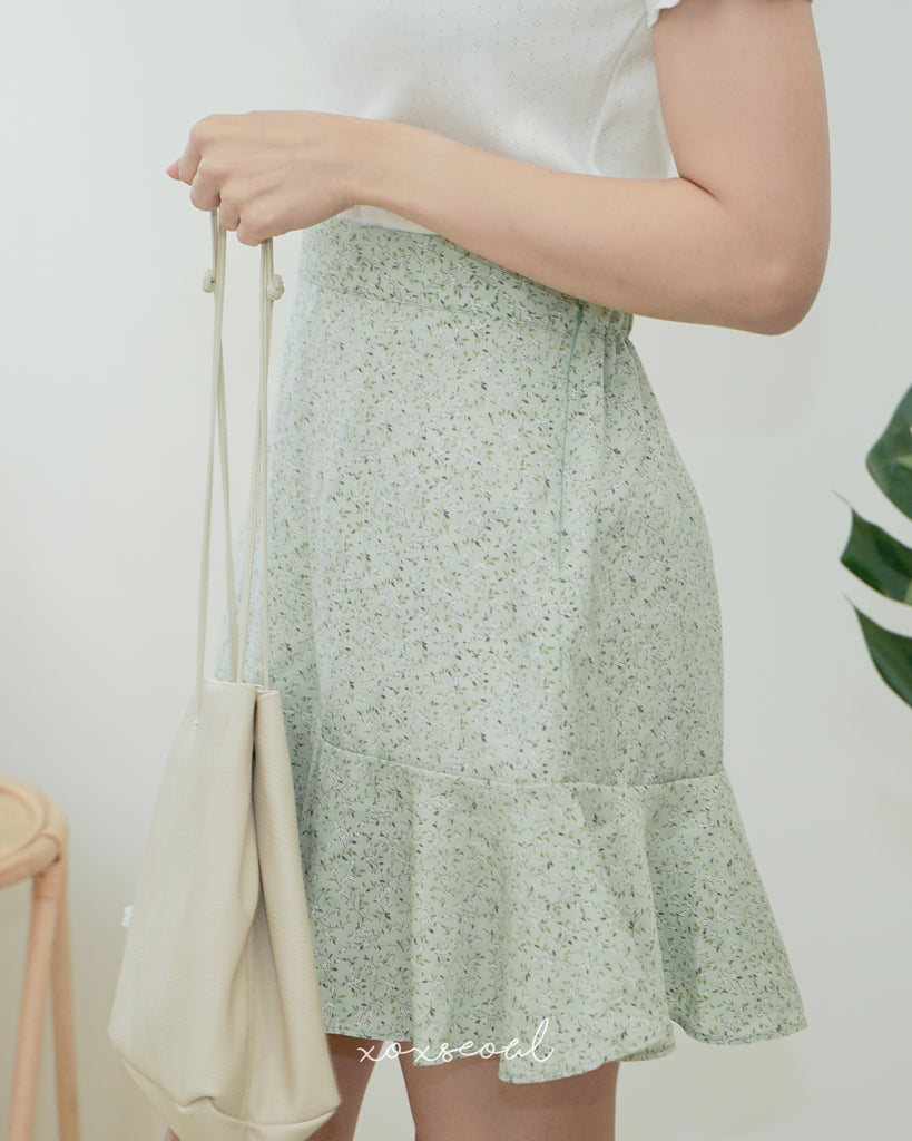 Say Bye to Spring Floral Skirt (3 Colors)