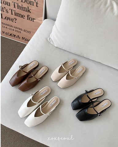 Send My Love Backless Loafers (4 Colors)