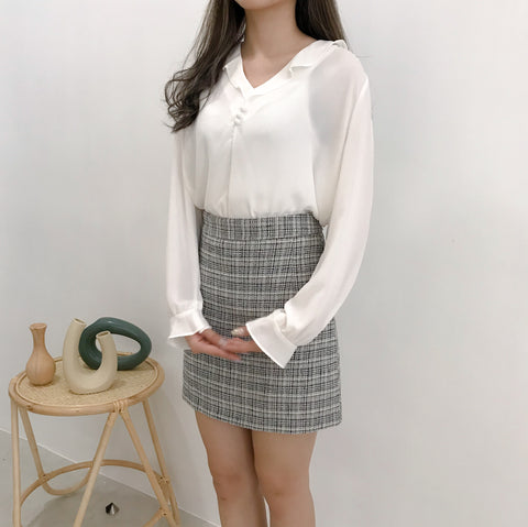 The Blessing Tweed Skirt