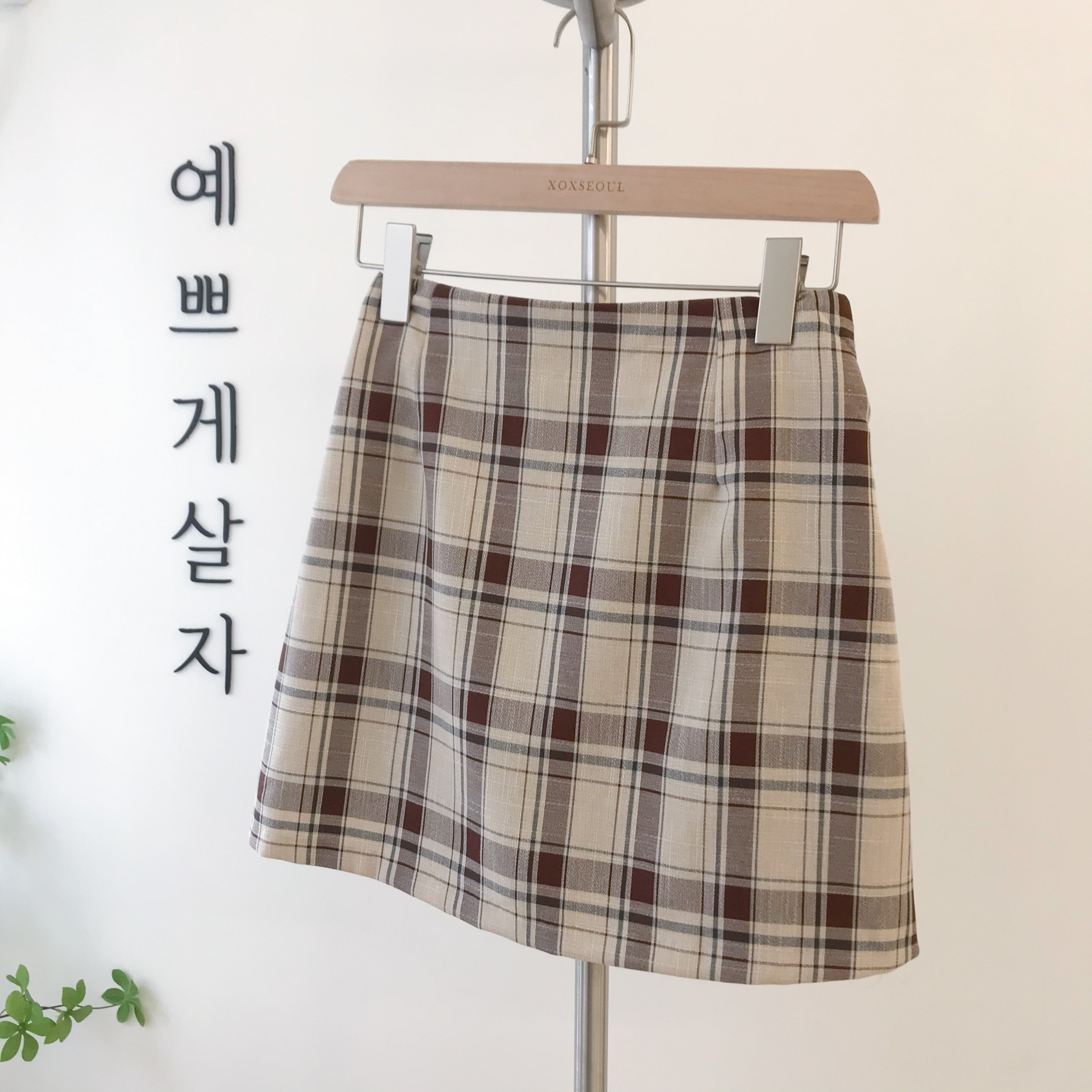 Value Checked Skirt Pants