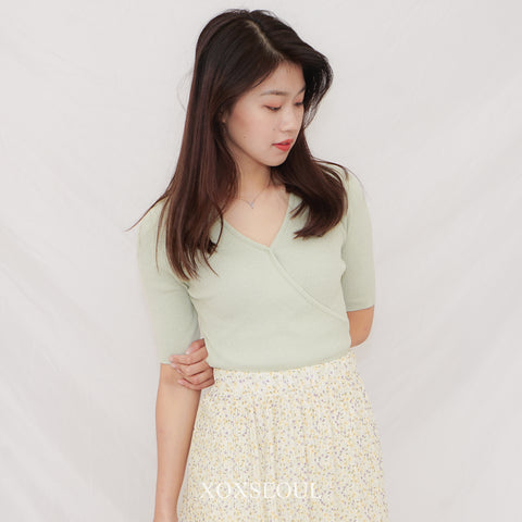 Summer Cozy V Knit Top (2 Colors)