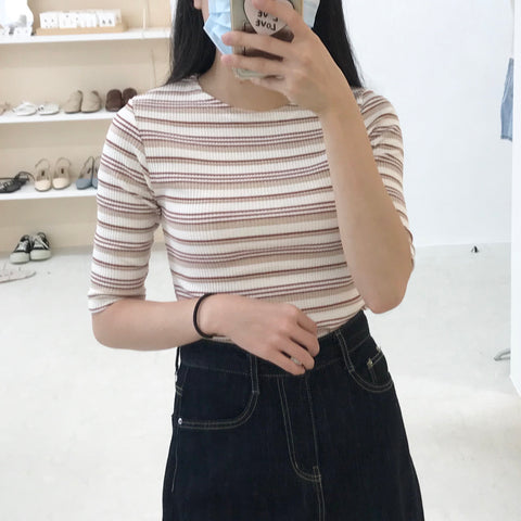 Autumn Smell Striped Top (2 Colors)