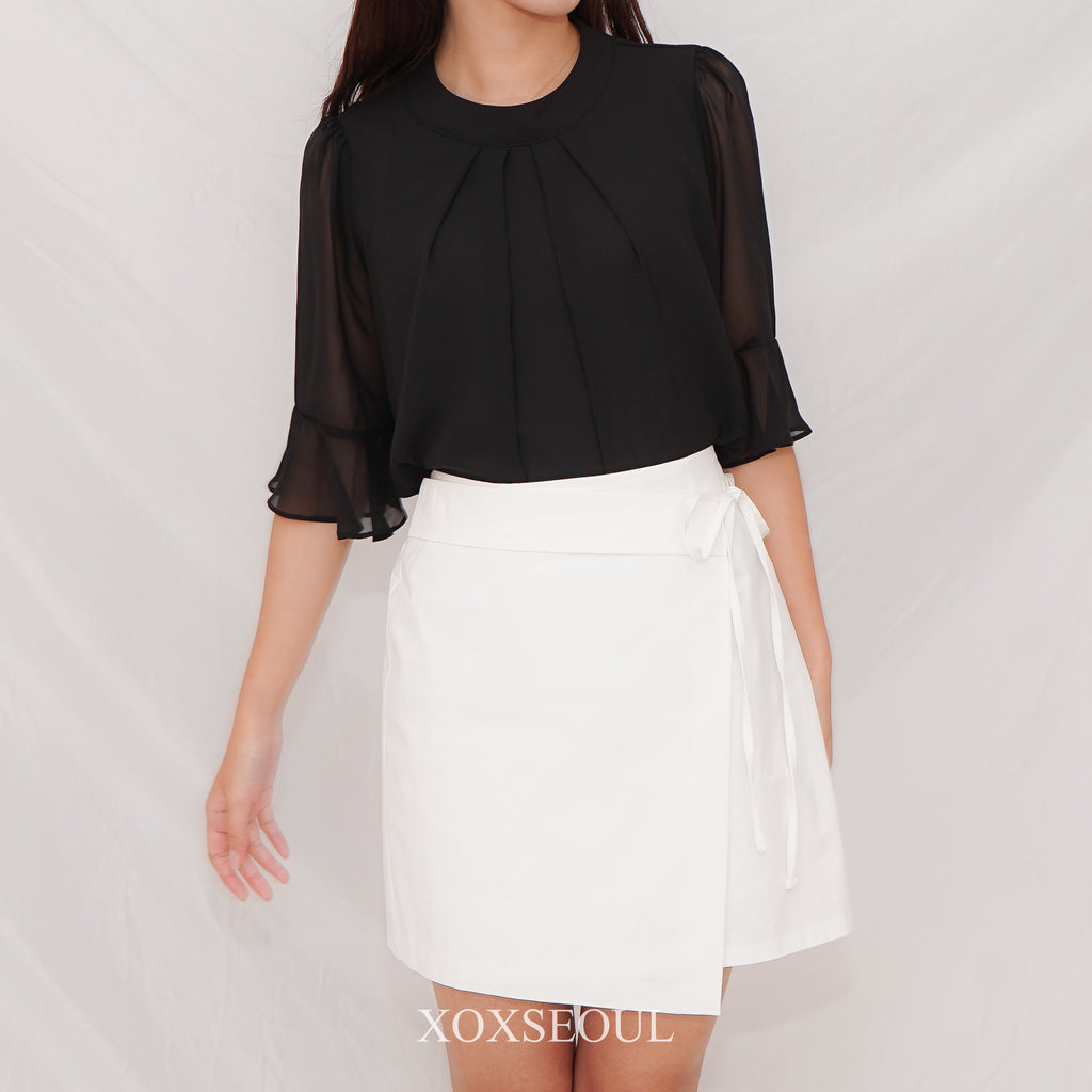 Every Letter Chiffon Blouse (2 Colors)