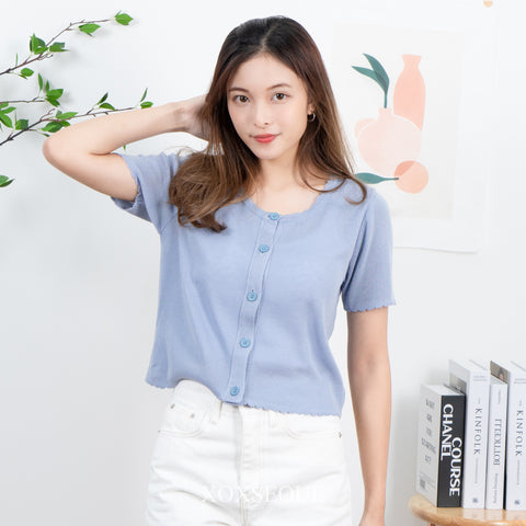 Random Box Cardigan Crop Top (3 Colors)