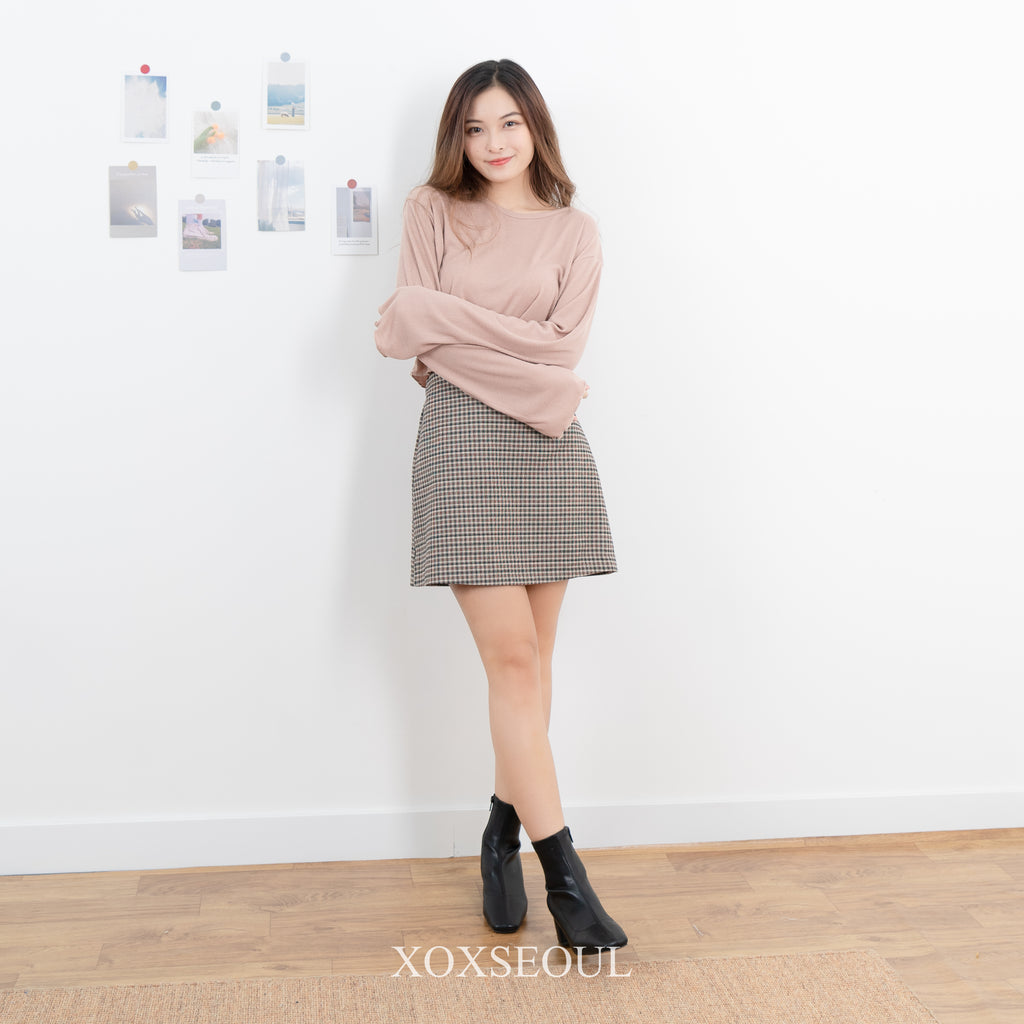 Autumn Checked Skirt (2 Colors)