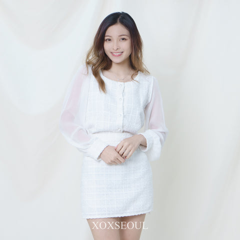 That Lover Ops Set (Blouse+Skirt) (2 Colors)