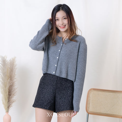 Pretty Liar Cardigan Top (55% wool, 5% cashmere) (2 Colors)