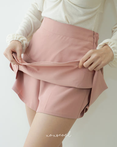 Double Layers Skirt Pants