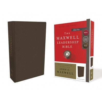 NKJV, Maxwell Leadership Bible, Third Edition, Premium Cowhide Leather, Brown