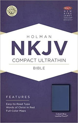 NKJV COMPACT ULTRATHIN BIBLE COBALT BLUE