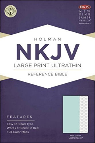 NKJV HOLMAN LARGE PRINT ULTRATIHIN REFERENCE BIBLE,MINT GREEN