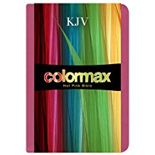 KJV Large Print COMPACT BIBLE HOT PINK COLORMAX - BW Wonderland