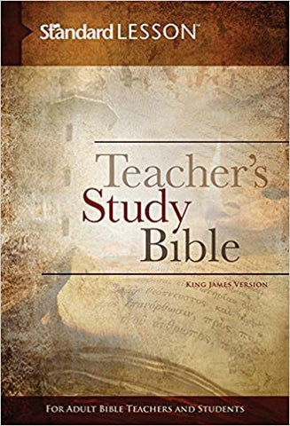 STANDARD LESSON TEACHER'S STUDY BIBLE  KING JAMES VERSION HARD COVER