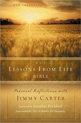 NIV Lessons from Life Bible: Personal Reflections with Jimmy Carter - BW Wonderland