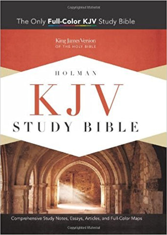 HOLMAN KJV STUDY BIBLE/MANTOVA BLACK LEATHER COVER