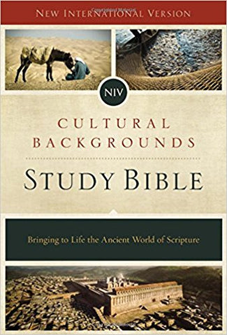 NIV CULTUAL BACKGROUNDS STUDY BIBLE, Hardcover - BW Wonderland