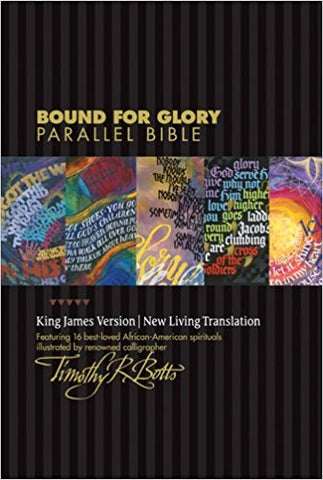 BOUND FOR GLORY PARALLEL BIBLE KJV/NLT L/C EBONY CASE - BW Wonderland