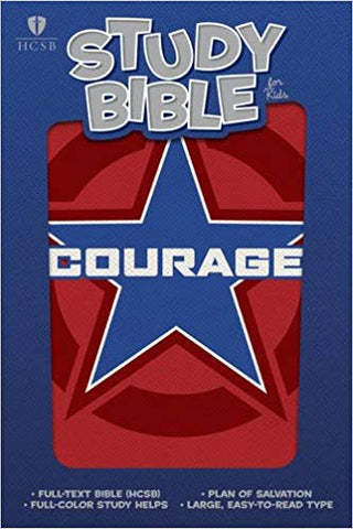 HCSB Study Bible for Kids, Courage LeatherTouch